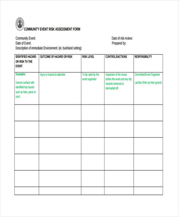 risk assessment form community service nsw pdf