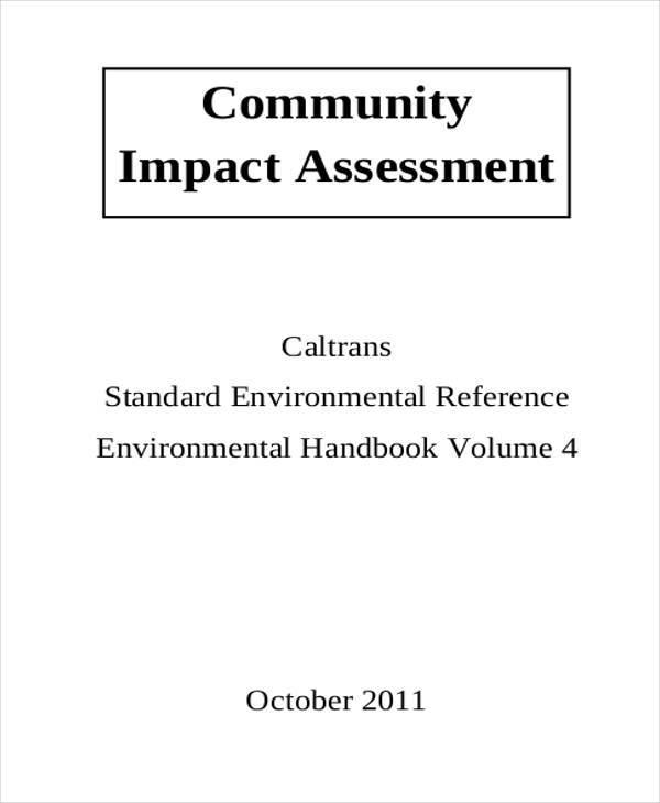 community impact assessment