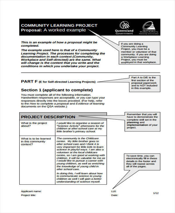 79 Project Proposals in PDF – Example of Project Proposal Used