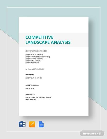 competitive landscape analysis template