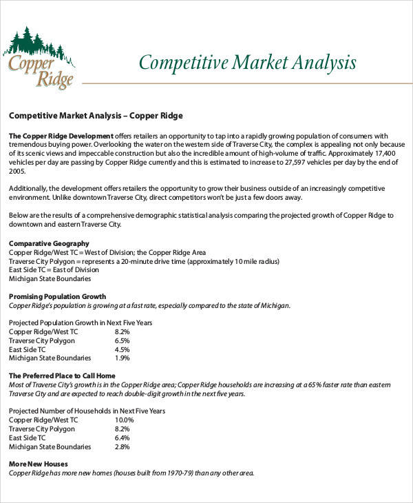 Competitive Analysis Templates  Free Sample Example Format