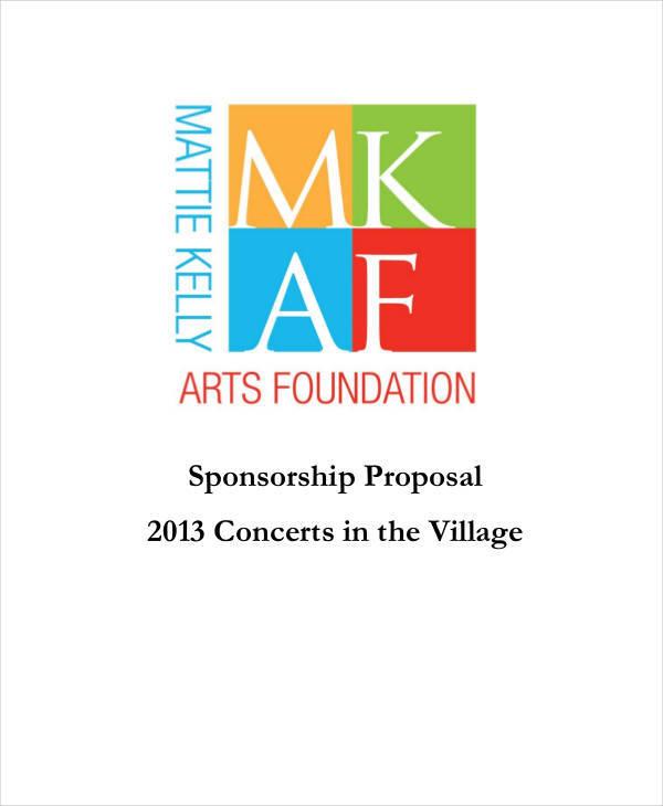 concert sponsorship proposal