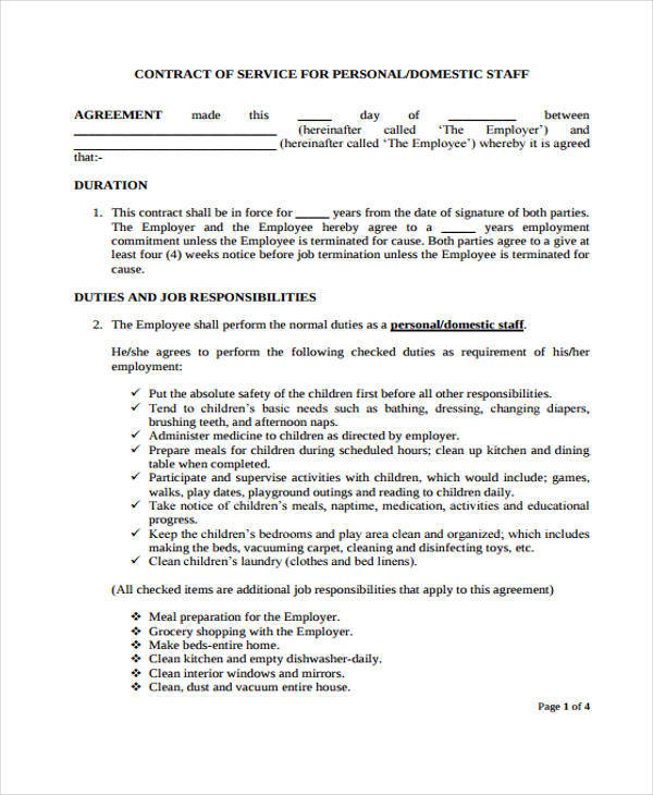 Confidentiality Agreement For Household Staff  Confidentiality Clause Contract