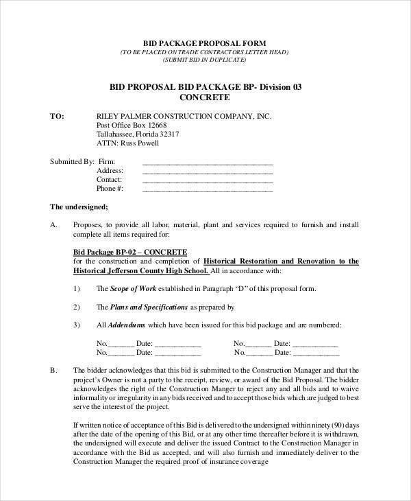 construction bid proposal2