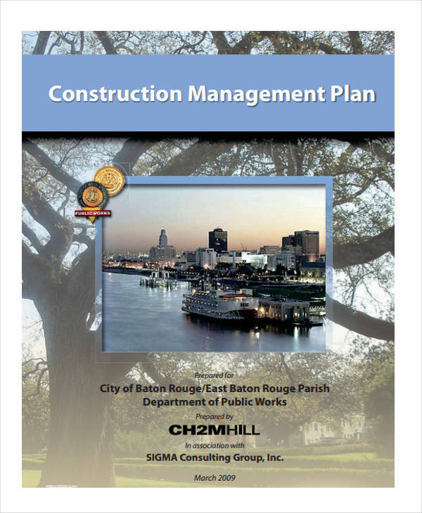 construction project management plan
