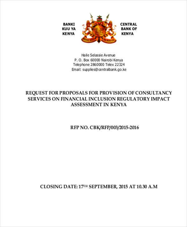 consultancy financial proposal