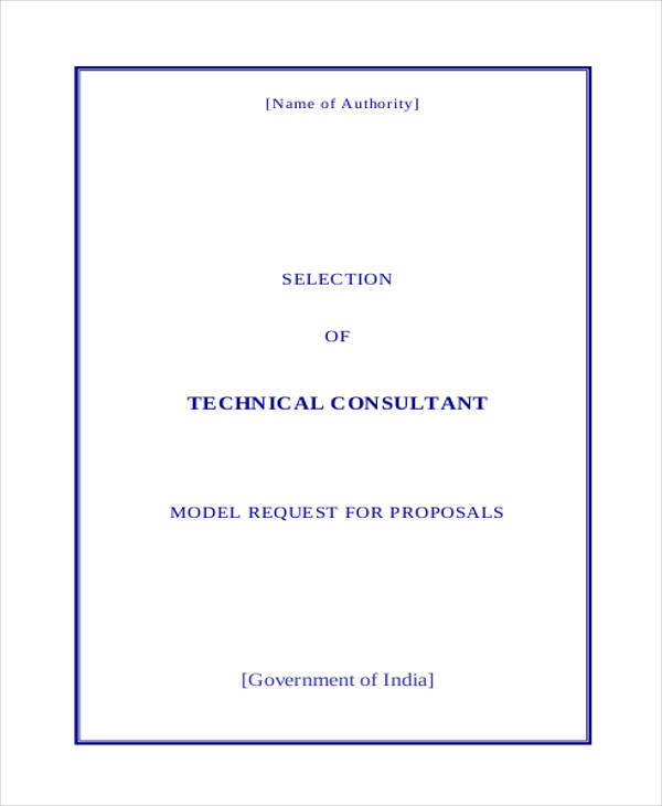 consultancy technical proposal