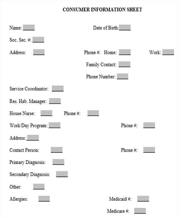 consumer information sheet1