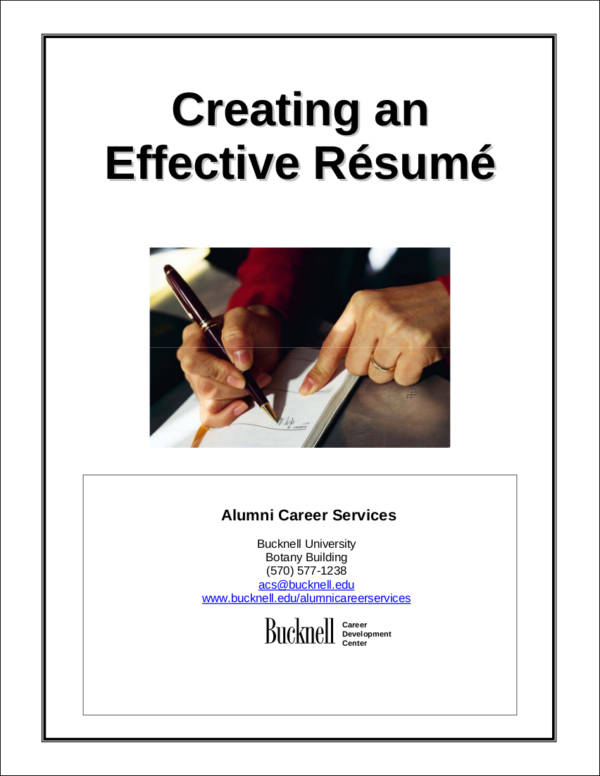 creating an effective resume1