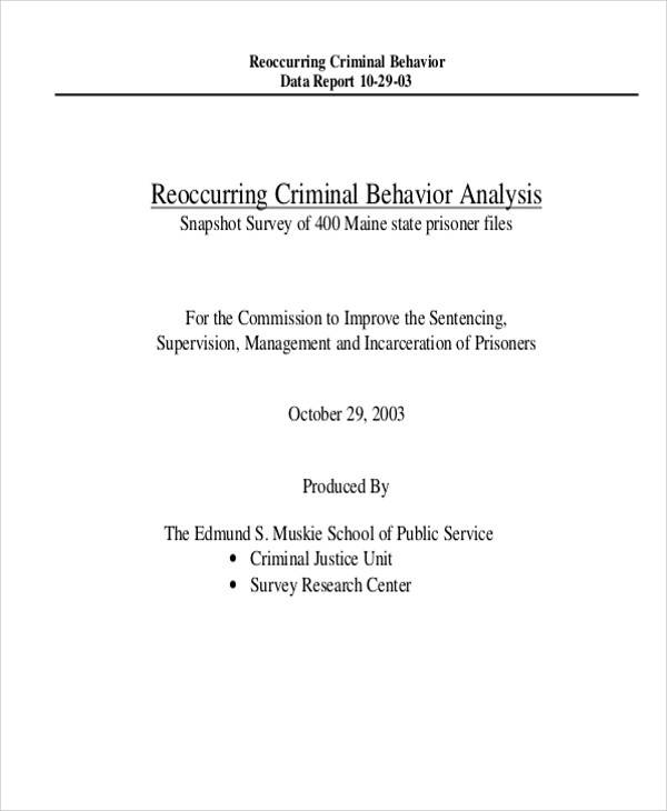 Behavior Analysis Samples  Free Sample Example Format Download