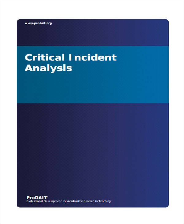 critical incident analysis nursing essays Essay on critical incident analysis during placement nursing  it will sketch how critical incident analysis is incorporated in the attention  no related essays.