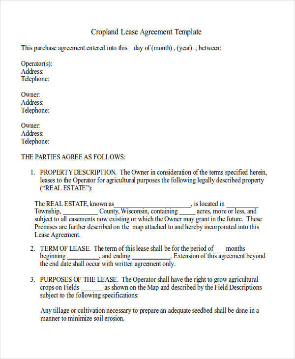 Free 31 Lease Agreement Samples In Ms Word Google Docs Apple Pages