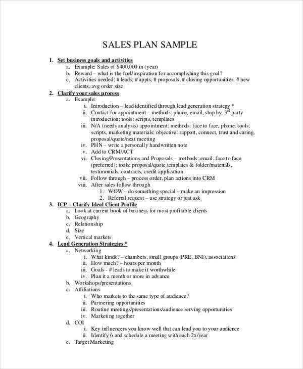 daily sales activity plan1