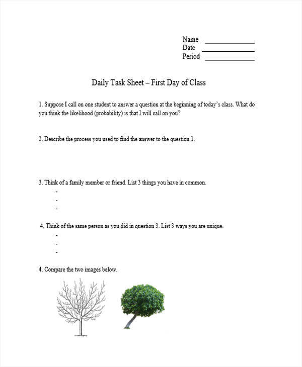 daily task sheet template1