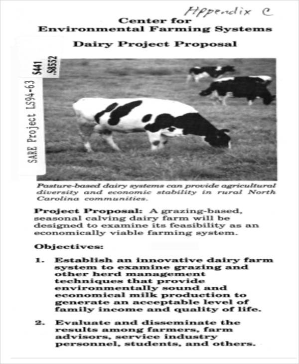 dairy farming project