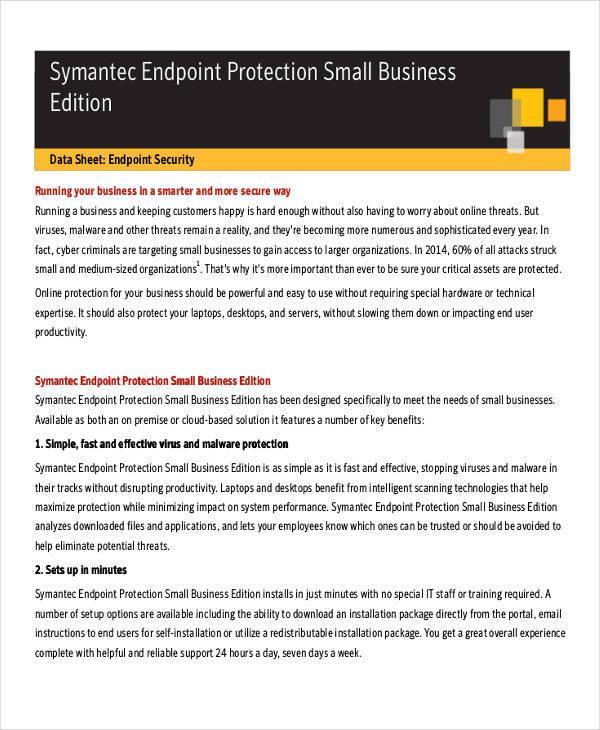 data sheet for business