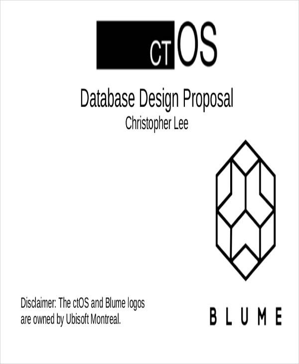 database design proposal