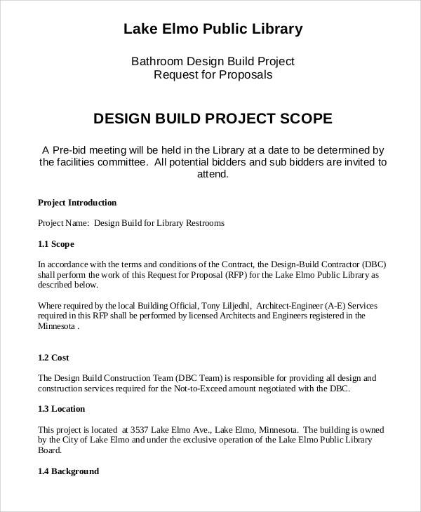 design build proposal
