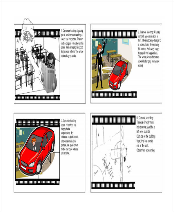 digital art storyboard