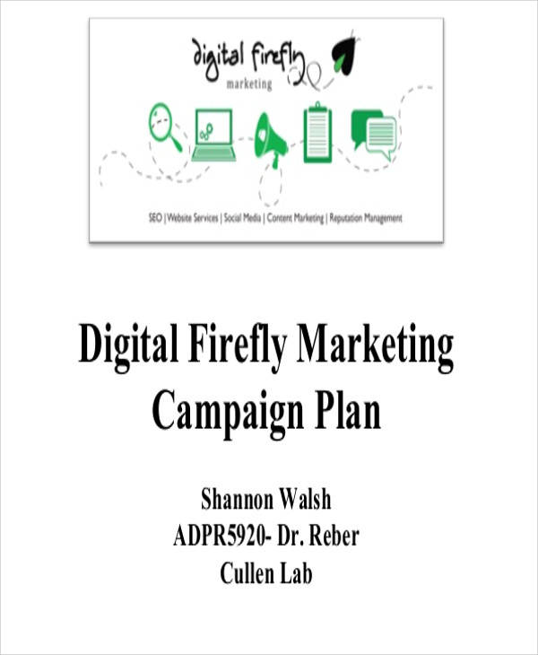 25 marketing plans in pdf sample templates for Digital marketing campaign planning template