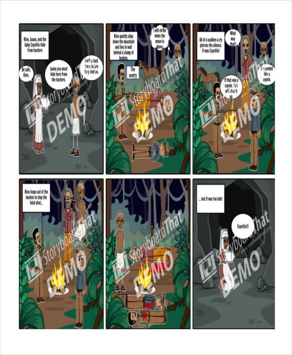 digital portfolio storyboard