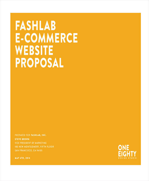 e commerce project proposal in pdf