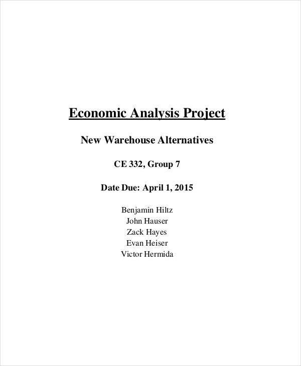 economic project analysis