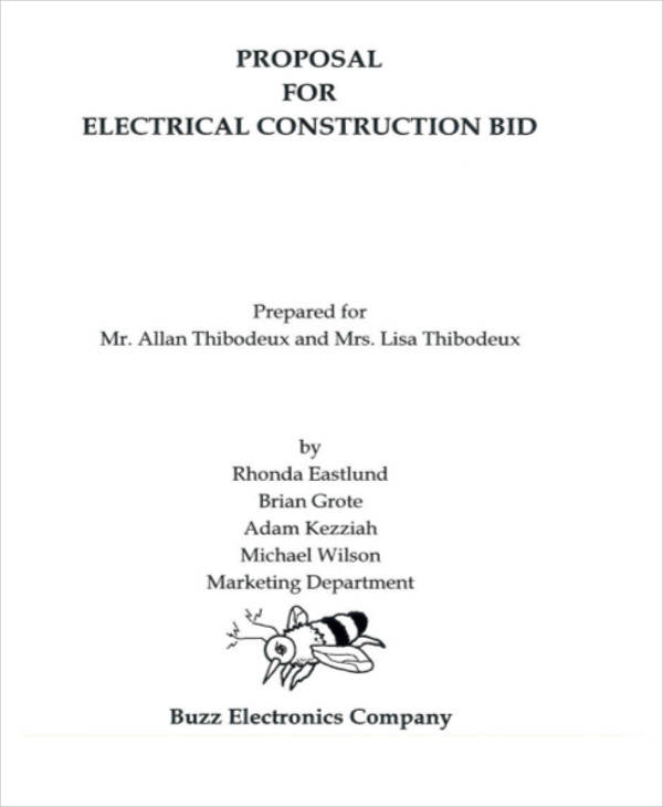 electrical bid proposal1