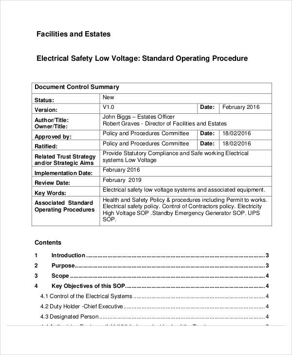 44 free sop template sample templates for Facility security plan template