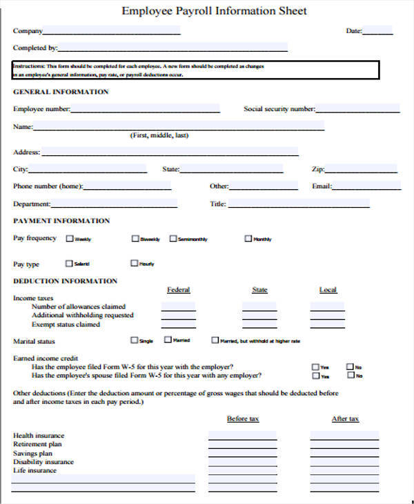 employee payroll information sheet2