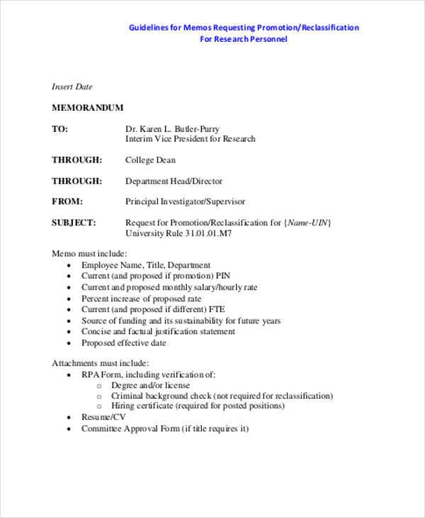 Promotion Letters