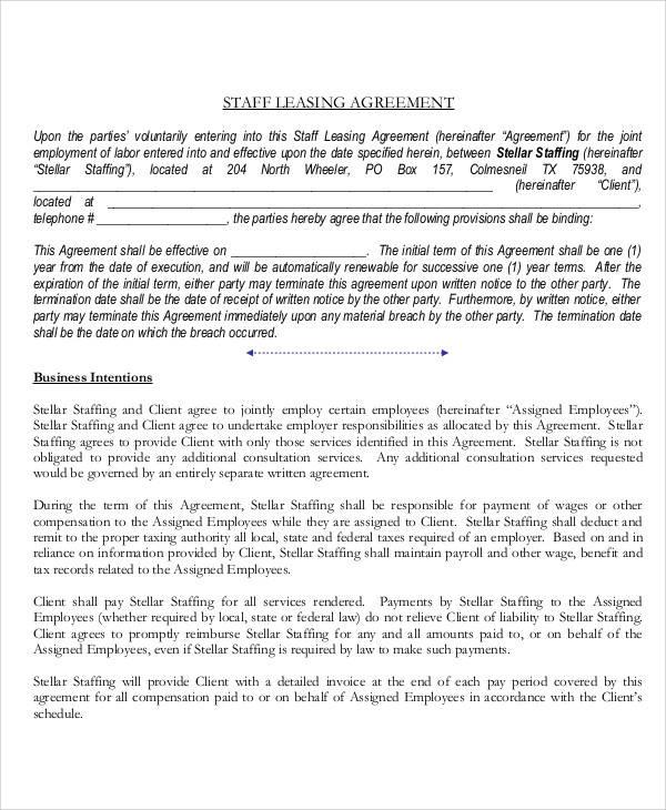 employee staff agreement1