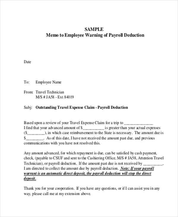 Employee Memo Template   Examples In Word Pdf