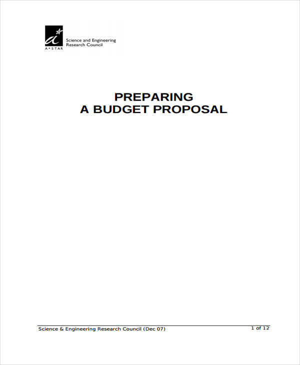 engineering budget proposal