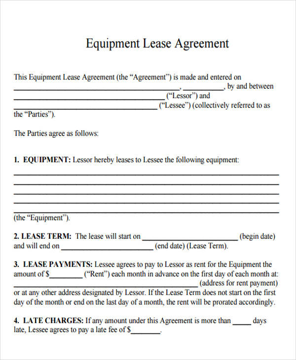 33 Lease Agreement Forms in PDF | Sample Templates