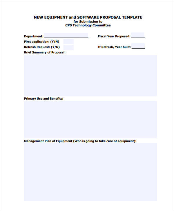 Good Equipment Purchase Proposal  Purchase Proposal Template