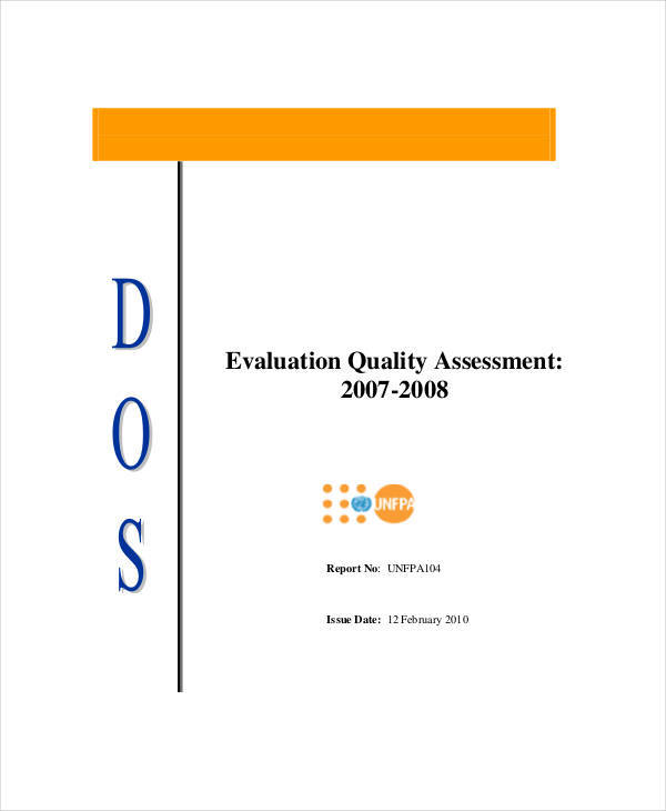 evaluation quality assessment
