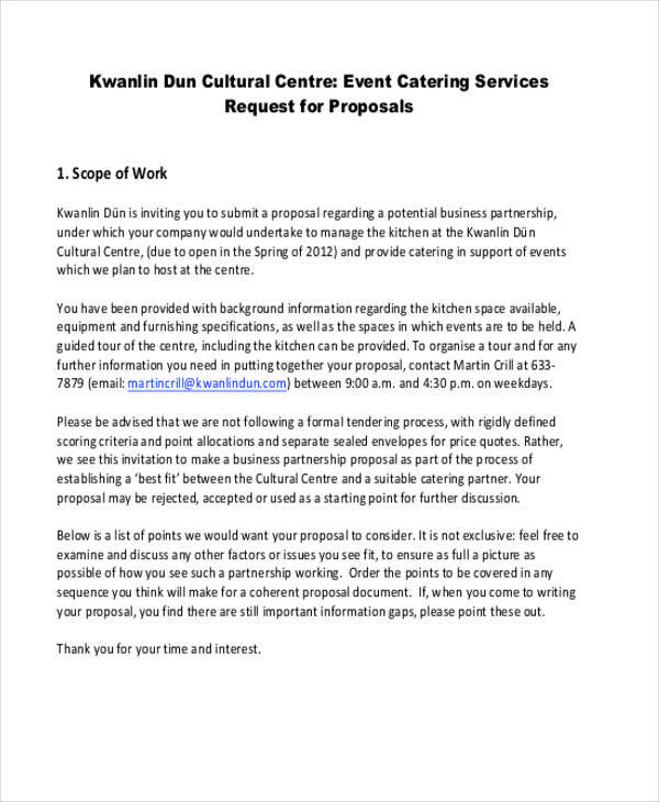 event catering sample proposal1