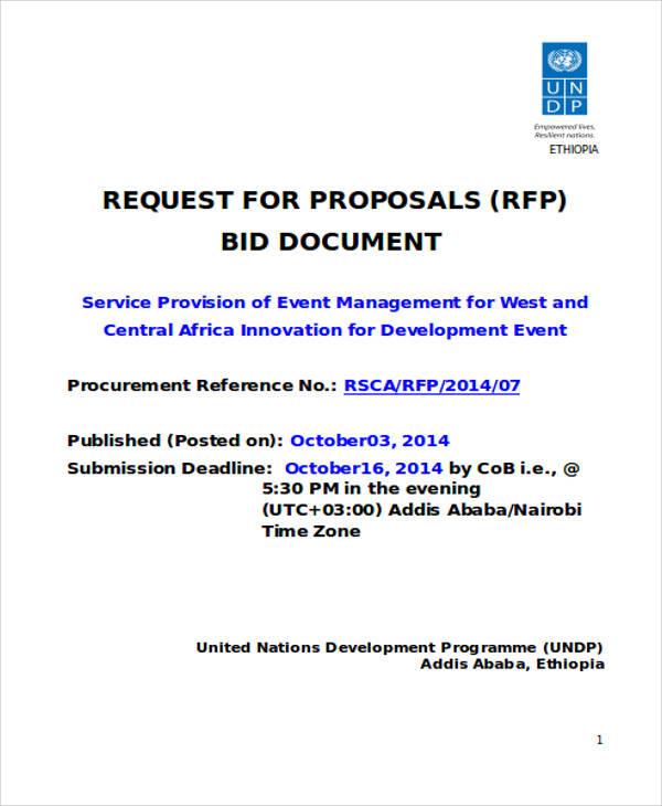 Event management proposal sample pdf