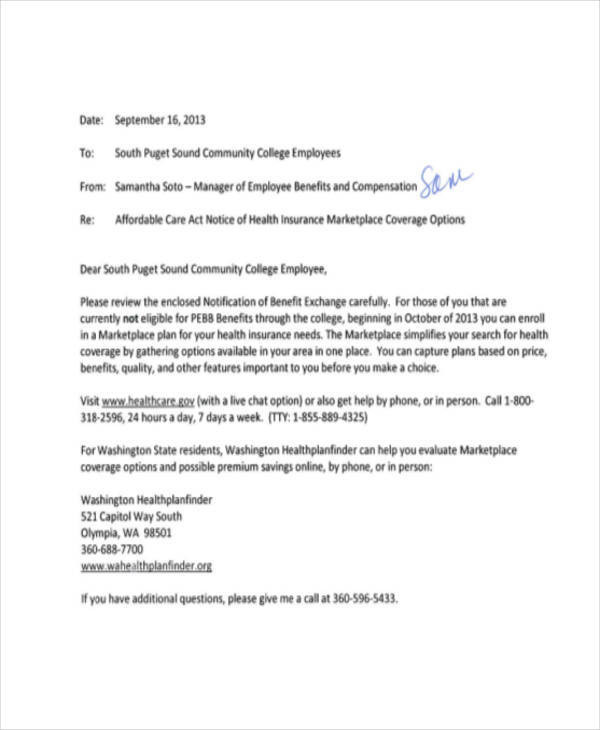 8 notice memo � free sample example format download