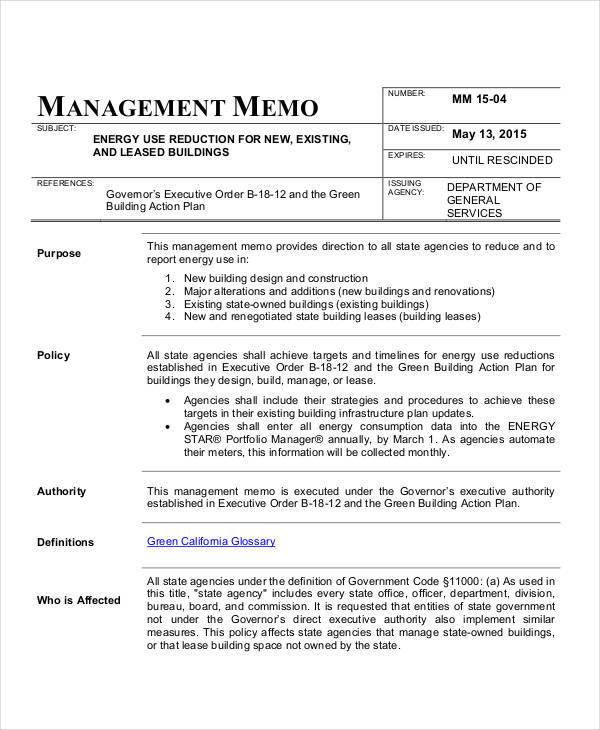 executive management memo1