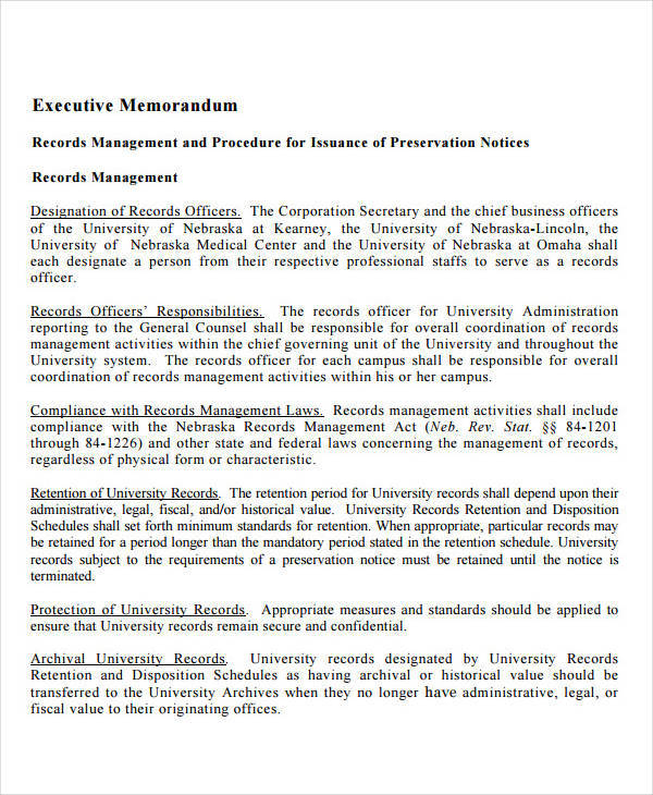 executive summary memo1