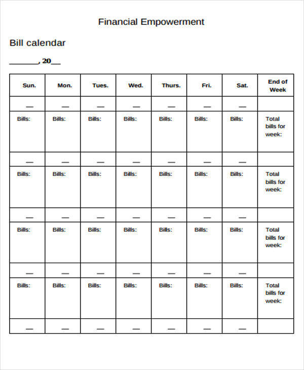 Bill Calendar. Bill Paying System- This Is Genius I Think I Might