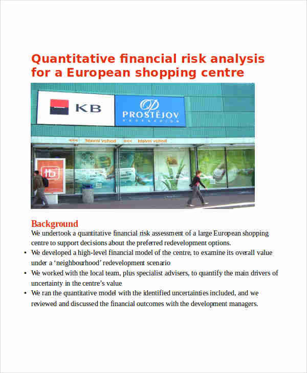 financial quantitative risk analysis