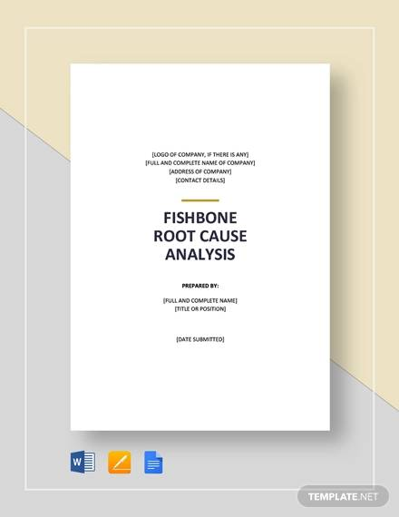 fishbone root cause analysis template