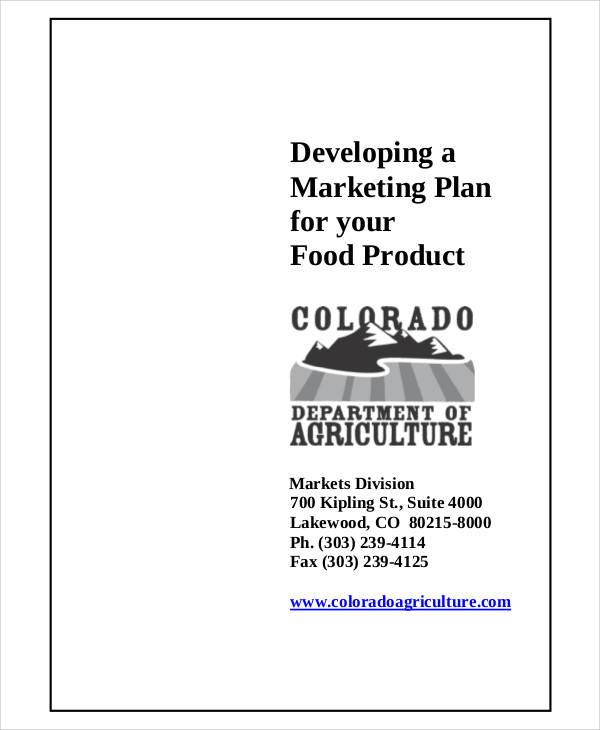 food product marketing plan