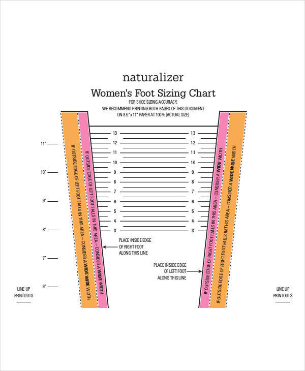 foot measurement chart