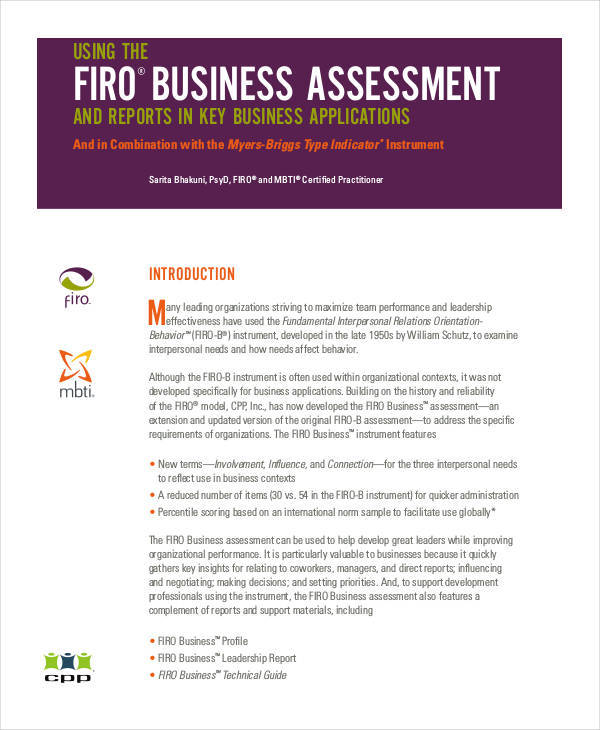 free assessment for business