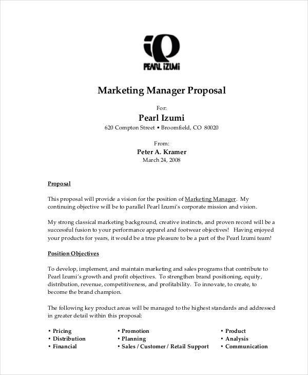 free job sample proposal