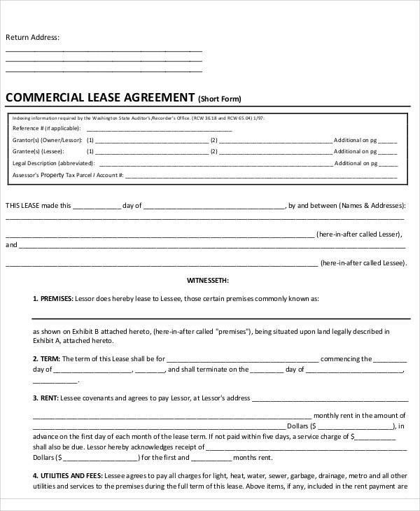 free lease agreement for commercial1